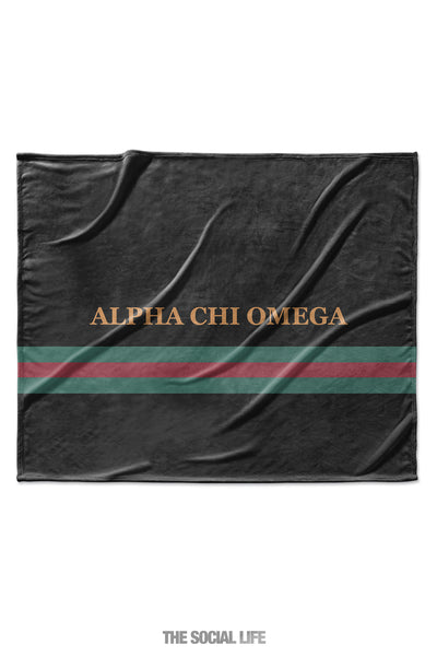 Alpha Chi Omega Couture Blanket