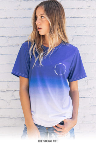 Alpha Chi Omega Dipped Tee