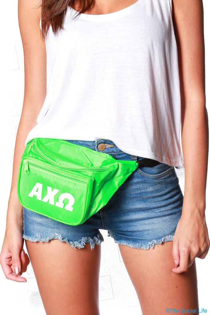 Alpha Chi Omega Neon Fanny Pack
