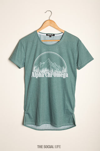 Alpha Chi Omega Forest Scoop Tee