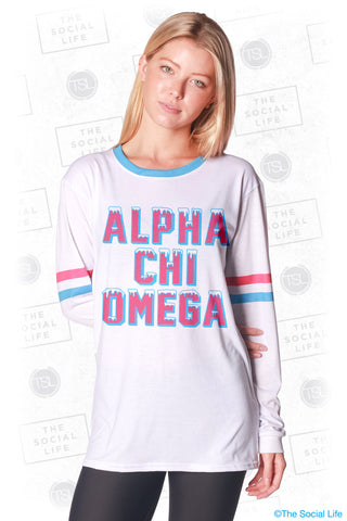 Alpha Chi Omega Frosted Long Sleeve