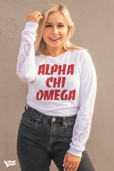 Alpha Chi Omega Fuego Long Sleeve