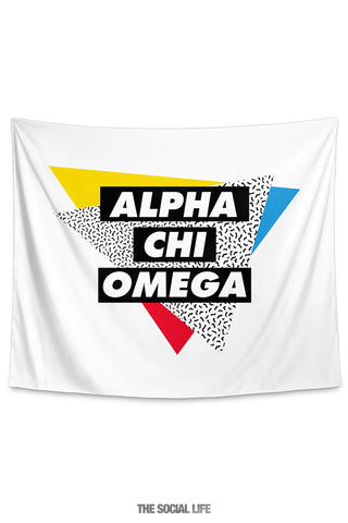 Alpha Chi Omega Graphy Tapestry