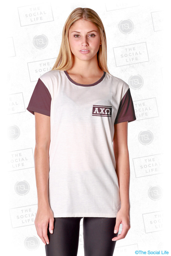 Alpha Chi Omega Hang Loose Scoop Tee
