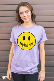 Alpha Chi Omega Happy Tee