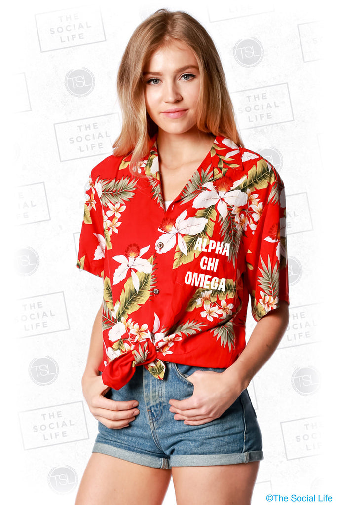 Alpha Chi Omega Hawaiian Shirt