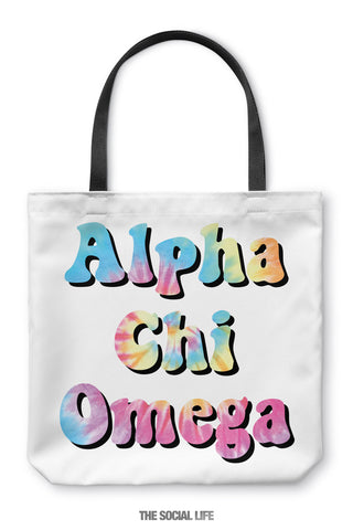 Alpha Chi Omega Hippie Tote Bag