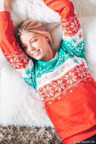 Alpha Chi Omega Holiday Crewneck