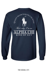 Alpha Chi Omega Kind of Guy Pocket Tee
