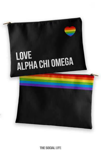 Alpha Chi Omega Love Cosmetic Bag