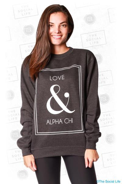 Love & Alpha Chi Crewneck