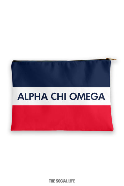 Alpha Chi Omega Merci Cosmetic Bag