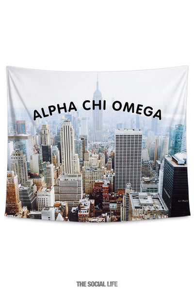 Alpha Chi Omega NYC Tapestry