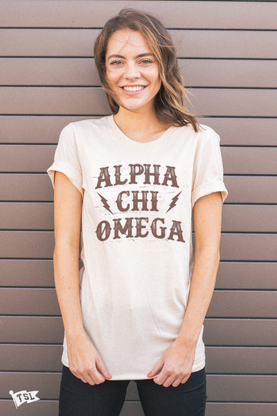 Alpha Chi Omega Old Town Tee