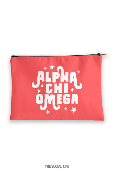 Alpha Chi Omega Pixie Cosmetic Bag