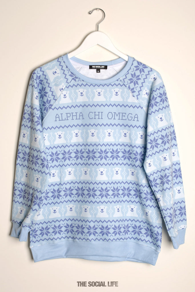 Alpha Chi Omega North Pole Raglan Crewneck