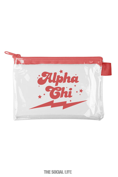 Alpha Chi Omega Cosmic Clear Pouch