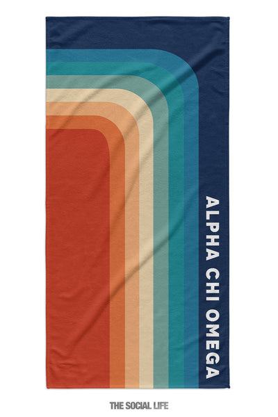 Alpha Chi Omega Far Out Towel