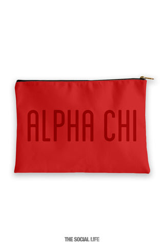 Alpha Chi Omega Primary Cosmetic Pouch