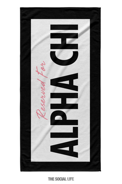 Alpha Chi Omega Reserved Towel
