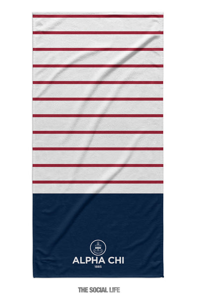 Alpha Chi Omega Sailor Striped Towel