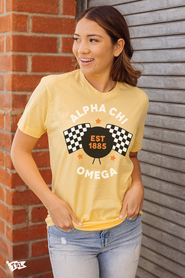 Alpha Chi Omega Speedway Tee