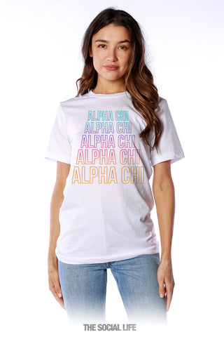 Alpha Chi Omega Stacked Tee