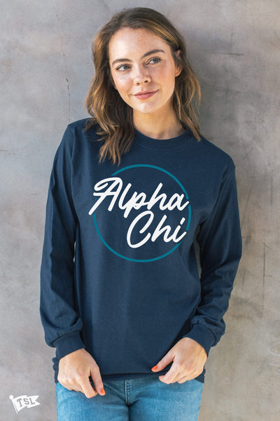 Alpha Chi Omega Stamp Long Sleeve