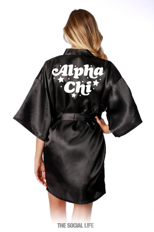 Alpha Chi Omega Stardust Silky Robe