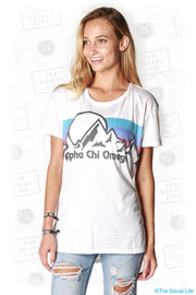 Alpha Chi Omega Summit Scoop Tee