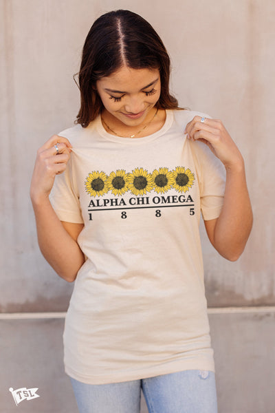 Alpha Chi Omega Sunflower Tee