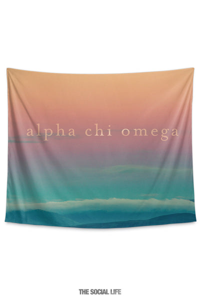 Alpha Chi Omega Sunset Tapestry