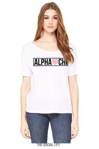 Alpha Chi Omega Sweetheart Top