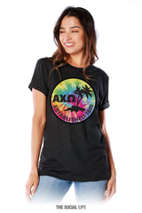 Alpha Chi Omega Tie Dye Dual Palm Tee