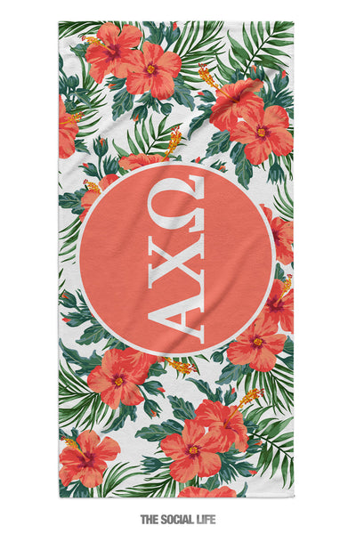 Alpha Chi Omega Tropic Towel