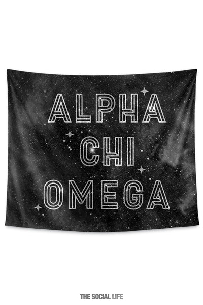 Alpha Chi Omega Twinkle Tapestry