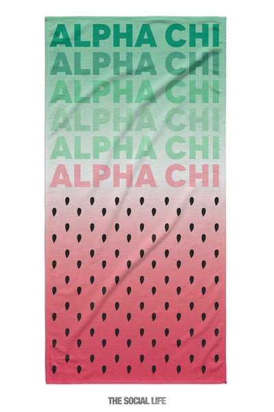 Alpha Chi Omega Watermelon Towel