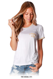 Alpha Chi Omega Groovy Relaxed Ringer Tee