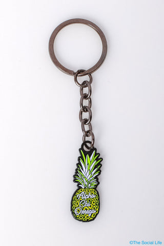 Alpha Chi Omega Pineapple Keychain
