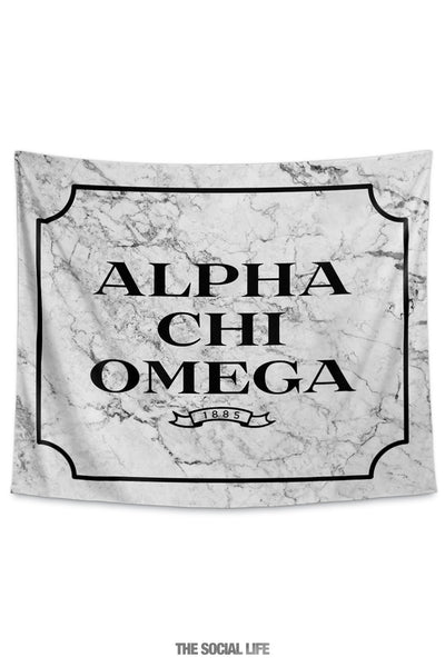 Alpha Chi Omega Milano Marble Tapestry