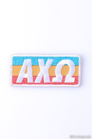 Alpha Chi Omega Retro Peel-n-Stick Badge