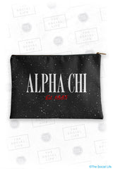 Alpha Chi Omega Speckle Cosmetic Bag