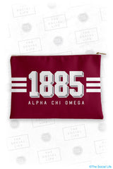 Alpha Chi Omega Varsity Cosmetic Bag