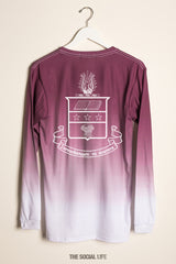 Alpha Chi Omega Classic Crest Ombre Long Sleeve