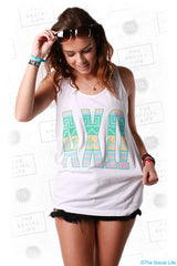 Alpha Chi Tribal Letters Tank