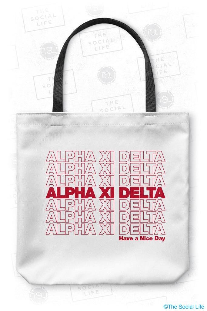 Alpha Xi Delta Thank You Tote Bag