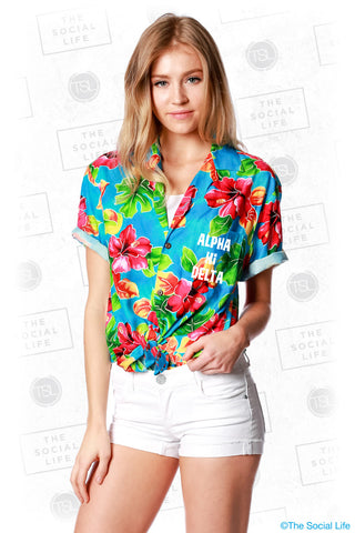 Alpha Xi Delta Hawaiian Shirt