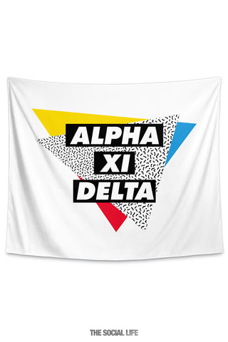 Alpha Xi Delta Graphy Tapestry