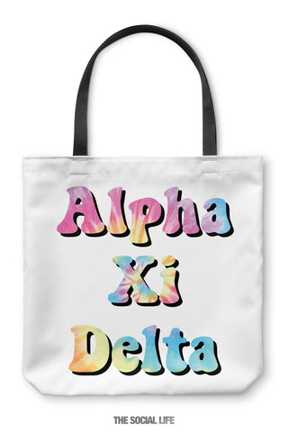 Alpha Xi Delta Hippie Tote Bag