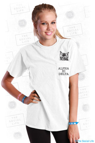Alpha Xi Delta Kitten Pocket Tee